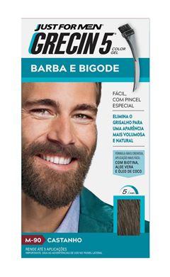 Grecin 5 Barba e Bigode Castanho