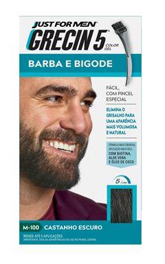 Grecin 5 Barba e Bigode Castanho Escuro