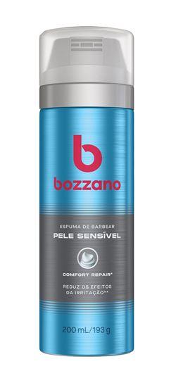 Espuma de Barbear Bozzano 200 ml Pele Sensível