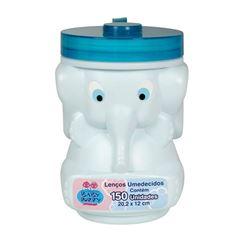 Lencos Umedecidos Baby Poppy Elefante 150 unidades Azul