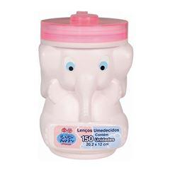 Lencos Umedecidos Baby Poppy Elefante 150 unidades Rosa