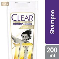 Shampoo Anticaspa Clear Women 200 ml Limpeza Hidratante