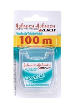 Fio Dental Johnson & Johnson Reach Essencial 100m Menta