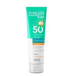 Protetor Solar Infantil Sunless FPS 50 Toque Seco 120g