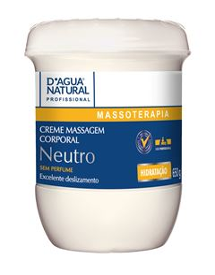 Creme de Massagem D Agua Natural 650 gr Neutro