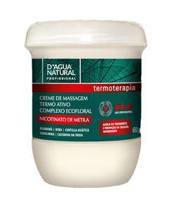 Creme de Massagem D Agua Natural 650 gr Termoterapia