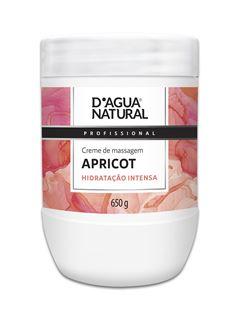 Creme de Massagem D Agua Natural 650 gr Apricot