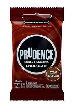 Preservativo Prudence Cores e Sabores Chocolate 3 unidades