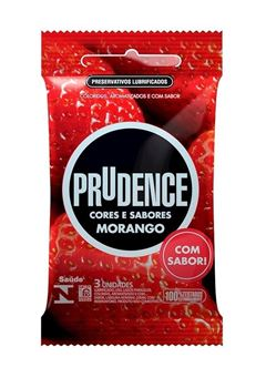Preservativo Prudence Cores e Sabores Morango 3 unidades