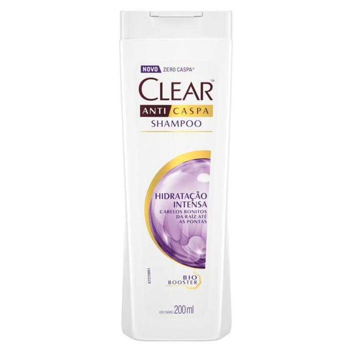 Shampoo Anticaspa Clear Women 200 ml Hidratacão Intensa