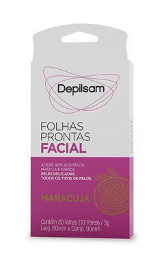 Folhas Prontas Facial Depilsam 20 unidades Maracujá