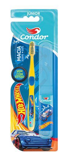 Escova Dental Condor Junior Macia Hot Wheels Cores Sortidas