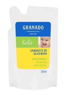 Sabonete Líquido Granado Bebê Refil 250 ml Tradicional