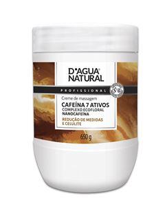 Creme de Massagem D Agua Natural 650 gr Cafeína