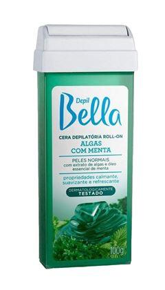 Cera Refil Roll On Depil Bella 100 gr Algas com Menta
