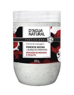Creme de Massagem D Agua Natural 650 gr Pimenta Negra