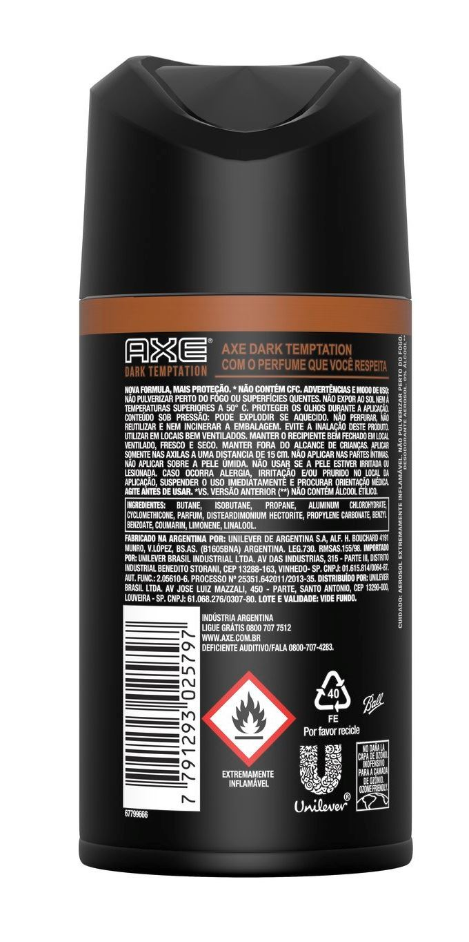 Desodorante Aerosol Axe Bodyspray 150 ml Dark Temptation