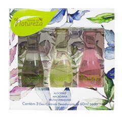 Kit Seivas da Natureza Deo Colonia 60 ml Cada 3 unidades