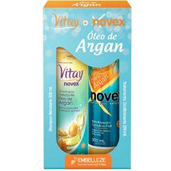 Kit Novex Vitay Óleo de Argan Shampoo 300ml e Condicionador 300ml