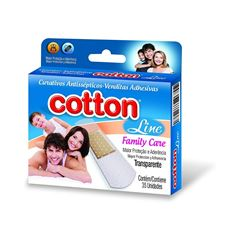 Curativo Cotton Line Family Care 35 Unidades Transparente