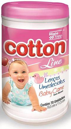 Lencos Umedecidos Cotton Line Baby Care 70 unidades Rosa