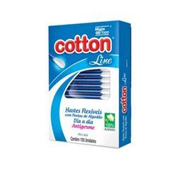 Hastes Flexiveis Cotton Line Dia a Dia 150 unidades Antigerme