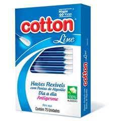 Hastes Flexiveis Cotton Line Dia a Dia 75 unidades Antigerme