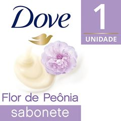 Sabonete Barra Dove Delicious Care 90 gr Creme e Flor de Peonia