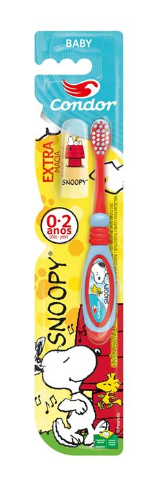 Escova Dental Condor Baby Extra Macia Snoopy Cores Sortidas