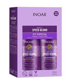 Kit Inoar Absolut Shampoo + Condicionador 250 ml cada Speed Blond